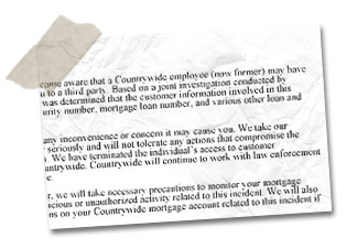 Countrywide letter